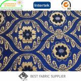 Fábrica teñida de la tela del amortiguador del sofá del telar jacquar del hilo de algodón del poliester el 30% del 70%