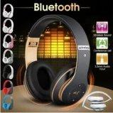 Auscultadores Foldable de Bluetooth sobre a orelha, capas protetoras para as orelhas macias dos auriculares sem fio estereofónicos de alta fidelidade, com Mic interno e modalidade prendida para o telefone de pilha do PC