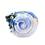 Tubulação de vidro da colher da tubulação de vidro de vidro da mão do lagarto verde de tubulação de fumo