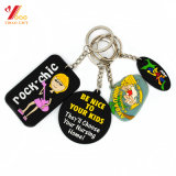 Цепь PVC Keychain таможни 3D мягкая ключевая/мягко резиновый Keyring Keychains/силикона
