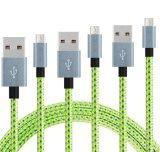 Samsung 유형 C 비용을 부과 데이터 마이크로 USB 케이블을%s 나일론 땋는 인조 인간 V-8