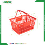 Commerce de gros ordinateur de poche souple orange rose mignon petit supermarché en plastique des paniers à provision pour les magasins