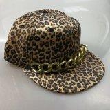 Крышка Snapback печати леопарда 6 панелей с цепью