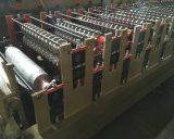 Rolo da telhadura do metal da camada dobro que dá forma à máquina