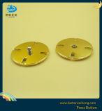 Позолоченный блеск нажмите кнопку с металлическими для одежды