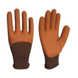 13 Gauge Agriculture Industry Work 3/4 Brown Foam Latex Palm Coated Gloves