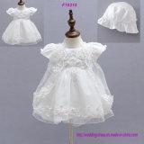 Robe de fille de fleur de robes de baptême de baptême de robe de bébé