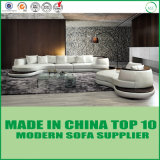 Cor Branco sofá de couro italiano mobiliário de Ajuste