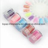 Kits de couleur de gradient Rainbow de faux ongles 5 tailles de poudre Giltter Pre-Glue Appuyez sur faux ongles Conseils pour les kits de petites filles (NR-39)