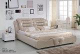 Kd modernos muebles de dormitorio cama de cuero (J037)
