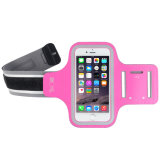 携帯電話のための調節可能な、透過スクリーンが付いているLycraのスポーツの適性の腕章