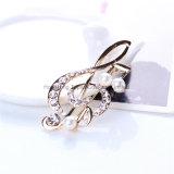 La llegada del Barroco Bowknot tela Broches Broches de cristal de la moda para mujeres Pajarita Accesorio de joyas clásicas (BR-03)