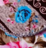 100% polyester Super douce et chaude Fleur imprimé de flanelle Couverture en laine polaire