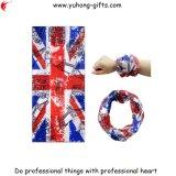 이음새가 없는 빨리 연결하십시오 스카프 관 Headwear 영국 깃발 작풍 건조한 낮은 섬유 속성 (YH-HS196)를