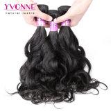 Yvonne 처리되지 않은 페루 사람의 모발 자연적인 파 머리 연장