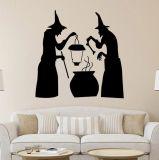 Etiquetas felizes da parede do vinil de Halloween para papéis murais do poster da decoração da HOME do fundo do indicador dos quartos dos miúdos para