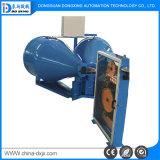 Encalhamento dobro do Pay-off do tambor que torce o fio que faz o processamento da maquinaria