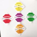 Las escrituras de la etiqueta antivibraciones reducen el malo manejo del producto