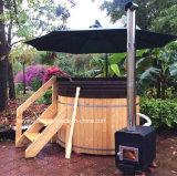 Tina caliente de madera redonda del BALNEARIO del cedro del superventas para la venta al por mayor