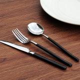 L'acier inoxydable 18/10 vaisselle réglée de vaisselle plate d'acier inoxydable de couverts place le jeu de vaisselle de couteau de fourche de bifteck