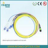 MPO (LL) - cuerdas de corrección rosadas de fibra óptica del cable del LC mini para la asamblea de cable del desbloqueo