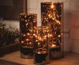 Heißes Verkaufs-Set des neuen Entwurfs-2018 3 LED-Weihnachtsdes glastisch-Licht-Sets Lichtes 3 Dekoration-LED