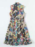 Высокое качество летом новой моды шифон Satin долго одежды для женщин