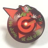 Logo imprimé en métal Clown badge lumineux à LED