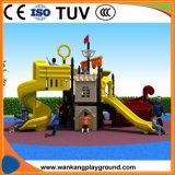子供の娯楽屋外の運動場の海賊船(WK-A71008M)