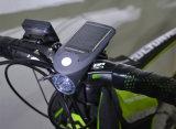 USBの料金のバイク4のモード360度の回転太陽自転車の前部ライト