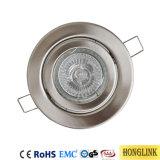 GU10 3W de l'acier Luminaire Downlight inclinable