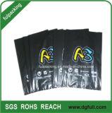 Zwarte Plastic het Winkelen van het Handvat van de Besnoeiing van de Matrijs Zak, Aangepaste PromotieHandtassen