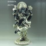 成功の実質の樹脂の鋳造物の彫像のGanesh (Ganesha)のヒンズー教の神