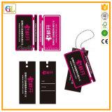 Colgar la impresión de tarjetas de etiquetas de tela en el precio barato