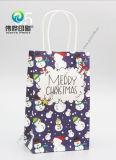 로고 인쇄를 가진 주문 공상 포장 크리스마스 작은 서류상 선물 부대