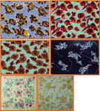 Tejer la seda teñido de impresión y de los padres - tallado de la serie de impresión