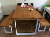 固体木のダイニングテーブルの居間の家具(M-X2418)