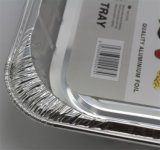 De beschikbare Container van de Aluminiumfolie van de Microgolf
