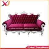 Sofá de madera de oro real para la boda/restaurante/Hotel/Home/banquete