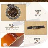 Cor de venda quente 39 Polegadas guitarra clássica chinesa artesanais