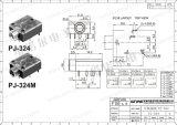 Wijfje 3.5mm Audio Mono StereoHefboom pj-324 van Wnre van de Hefboom