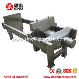 870 Grau Alimentício automática do filtro prensa de placa de PP para sumo