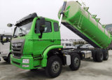 Carro resistente del transporte del tanque del lodo líquido 25m3 de HOWO 8X4