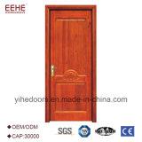 Modèle en bois principal de porte de balcon en bois de placage pour la Chambre