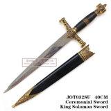 Decoração histórica 40cm Joto32su da HOME do punhal do cavaleiro do punhal da espada pequena de Solomon