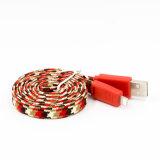 이동 전화를 위한 땋는 USB 케이블 국수 데이터 케이블