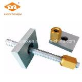 Pretensión de la tuerca y de la placa de la barra de la precisión