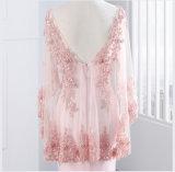 Do Spandex formal do laço da sereia do vestido da matriz do xaile vestidos de partido cor-de-rosa vermelhos E13171 da noite
