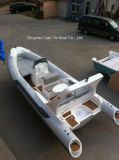 Liya 5.8m Fiberlassの肋骨のボートの漁船の膨脹可能なボートの肋骨