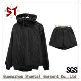 O Desgaste Externo Customed Fatos esportiva preta Jacket para Mulheres